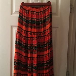 Allison Britney maxi Bohemian skirt